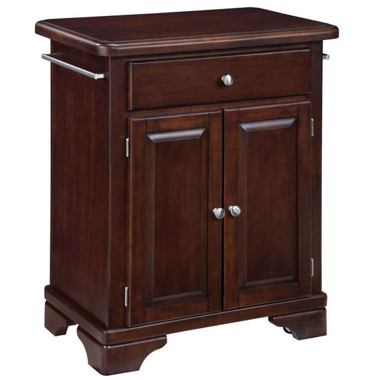 Mix and match premium cuisine kitchen cart wood top on for Cherry wood kitchen cabinets price