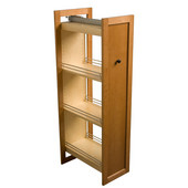 Tall Pull-Out Wood Pantry