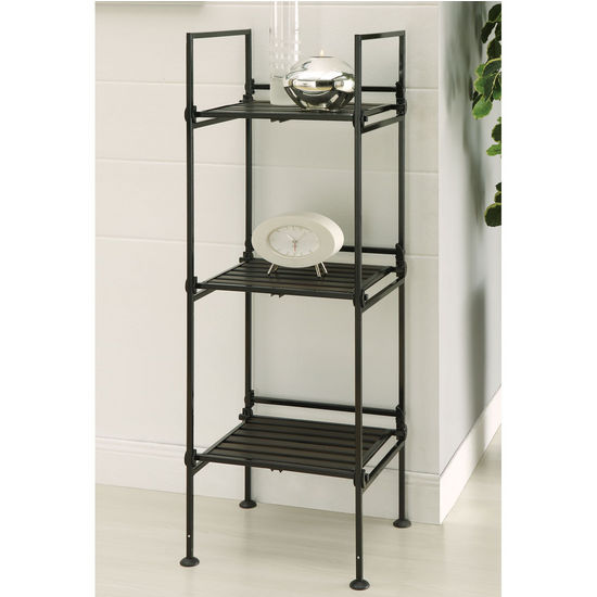 Neu Home Ebonize Collection 3 Tier Square Shelf