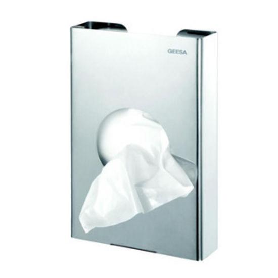 Nameeks Sanitary Bag Dispenser, Stainless Steel, 3-2/5 inch W