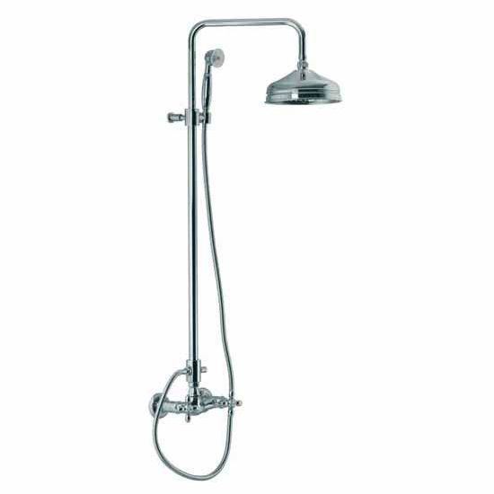 Nameeks Wall Mounted Shower Faucet with Rainhead and Hand Shower Set, 92-1/10 inch H x 11-4/5 inch D x 7-4/5 inch W x 0 inch L,