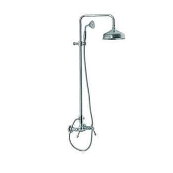 Wall Mount Shower Faucet with Rainhead and Hand Shower Set