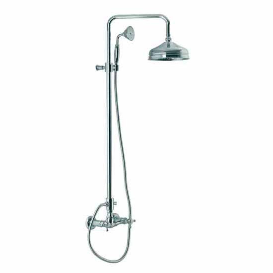Nameeks Wall Mounted Shower Faucet with Rainhead and Hand Shower, 92-1/10 inch H x 11-4/5 inch D x 7-4/5 inch W x 0 inch L, Old