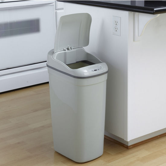 8.7-Gallon Plastic Infrared Trash Can