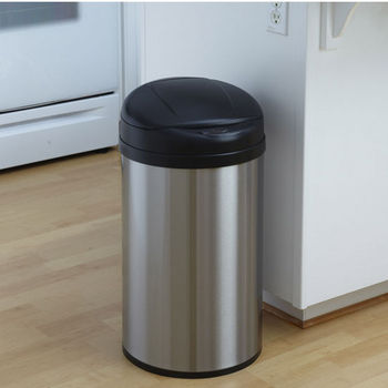 10.6 Gallon Stainless Steel Infrared Trash Can