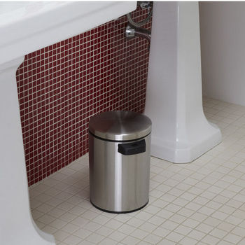 1.3 Gallon Motion Sensor Trash Can Stainless Steel