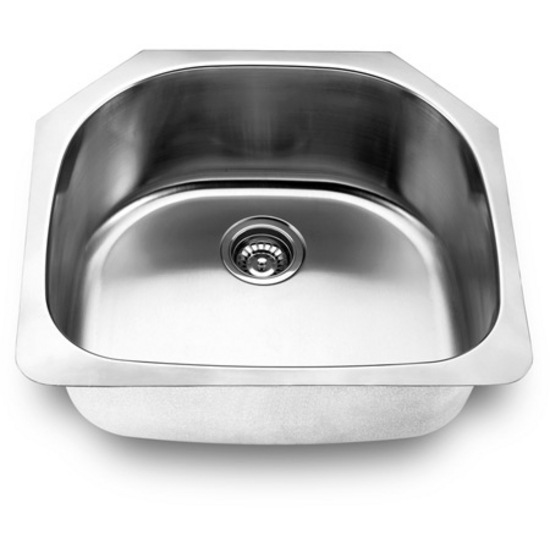Nantucket 18 gauge stainless steel single bowl sink with satin finish