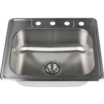 Nantucket Sinks 18-Gauge 304 Stainless Steel Rectangular Top Mount Sink