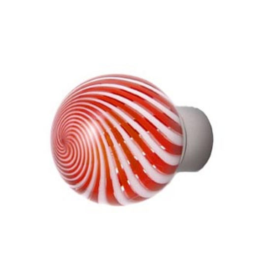 Spiral Orange & White Knobs Satin Nickel