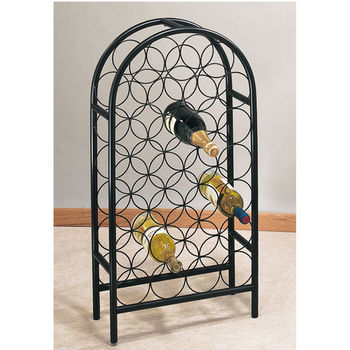 Steel Arch Top Wine Rack by Old Dutch