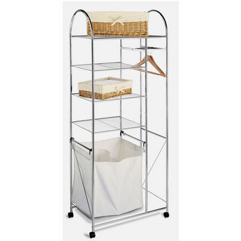 Neu Home Four Shelf Chrome Laundry Center