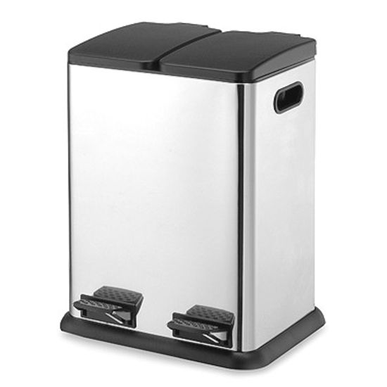 Neu home 10 5 gallon 40 liter stainless steel dual compartment step