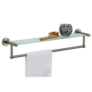 Neu Home Glass Shelf with Towel Bar