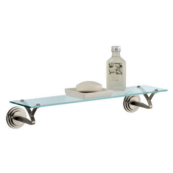 Neu Home Clear Glass Shelf with Decorative Mounts