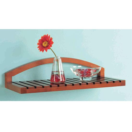 salon wall shelves : Furniture > Outdoor Furniture > Shelf > Teak Shower Shelf
