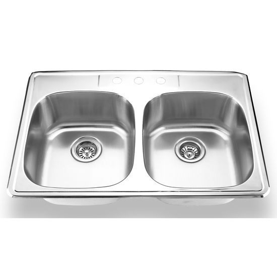 Yosemite Home D�cor Double Bowl Topmount Kitchen Sinks