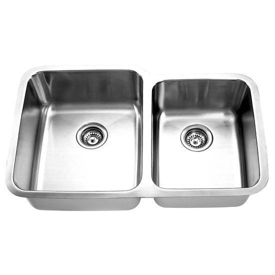 Yosemite Home D�cor Double Bowl Undermount Kitchen Sink