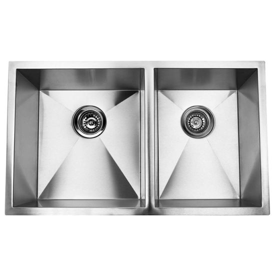 Yosemite Home D�cor Double Square Bowl Undermount Kitchen Sink