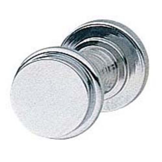 Hafele Knob, Polished Chrome Finish, 14mm W X 13mm D X 14mm H