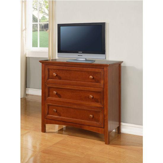 Powell Parker Cinnamon 3-Drawer Dresser, 35-1/2 inch W x 18 inch D x 33 inch H