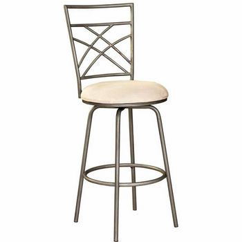 Powell Antique Gold Accented Pewter Bar Stool