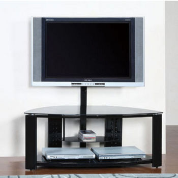 Powell - Corner Flat Panel TV Stand with Post & Bracket