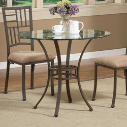Powell - Trent Bistro Dining Table, 36 Dia. x 29 1/2 H, Light Textured Bronze