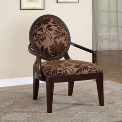 Powell - Oval Back Accent Chair, 29 W x 27 1/2 D x 38 1/2 H, Merlot