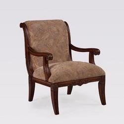 Powell - Alexandria Scroll Back Accent Chair w/Cloth, 26 1/2 W x 31 5/8 D x 37 H, Deep Cherry