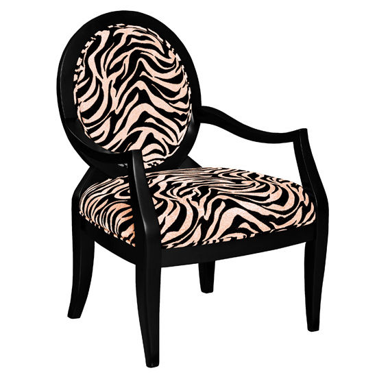 Zebra Oval Back Accent Chair by Powell