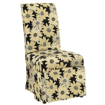 "Black Peppercorn Floral Skirted ""Slip Over"" (Fits 741-440 Chair)"