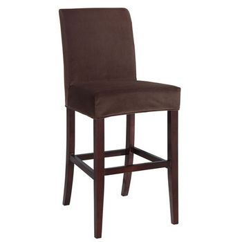 "Mink Brown Velvet ""Slip Over"" for Counter or Bar Stool"