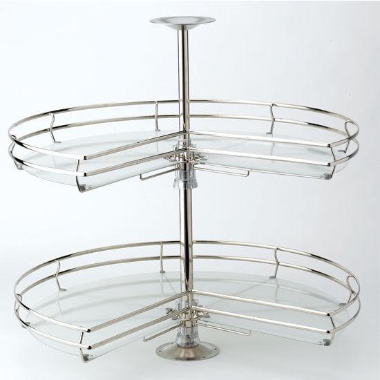 rev a shelf 32 diameter kidney compagnucci lazy susan. Black Bedroom Furniture Sets. Home Design Ideas