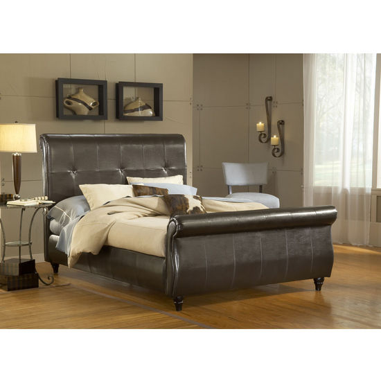 to do with hillsdale furniture fremont bed set in brown leather