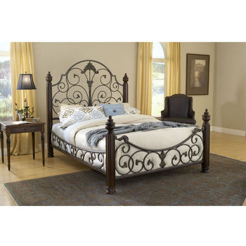 Hillsdale Furniture Gastone Bed Set in Black Gold