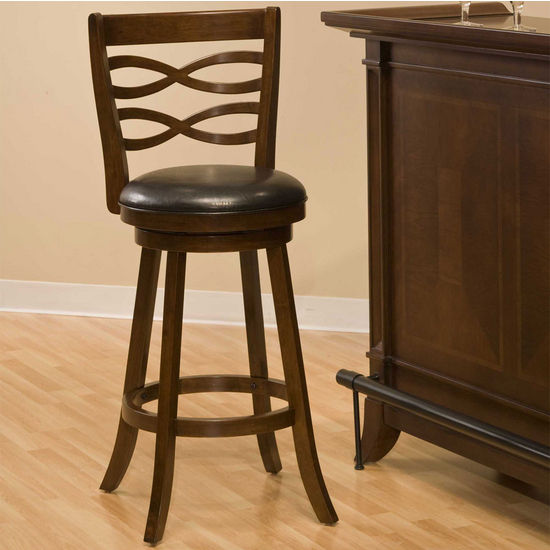 Hillsdale Furniture Elkhorn Swivel Stool in Cherry