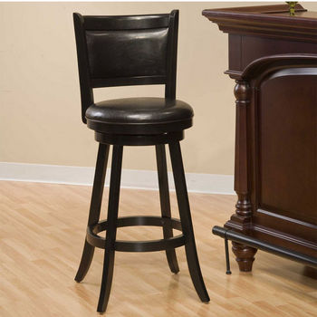 Hillsdale Furniture Dennery Swivel Stool in Black