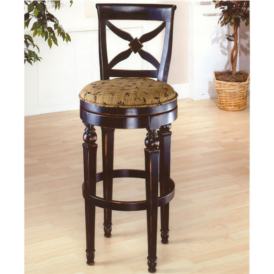 Hillsdale Furniture Normandy Swivel Counter Stool or Bar Height with Black/Honey Finish