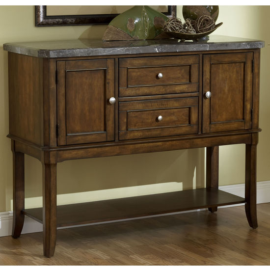 Hillsdale Patterson Marble Top Sideboard Server