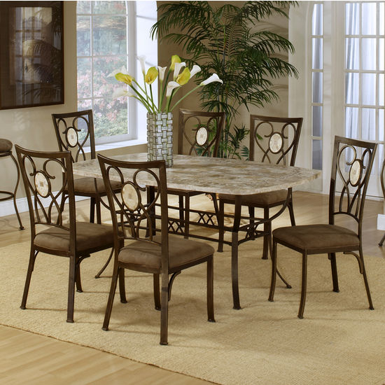 Brookside Rectangular Dining Table w/Chairs
