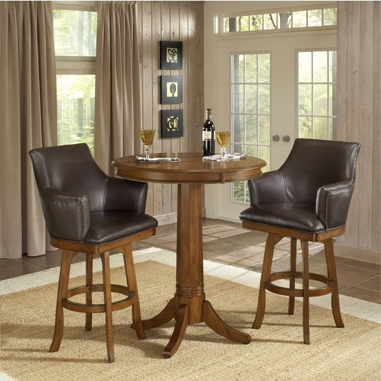 home hillsdale lakeview 5 piece round dining room set w wood side