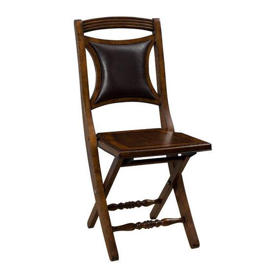 Hillsdale - Andorra Folding Chair, Deep Walnut