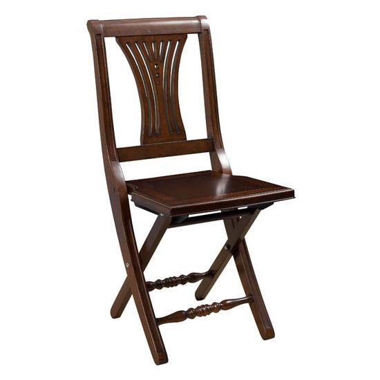 Hillsdale Furniture - Loreto Folding Chair, Mahogany