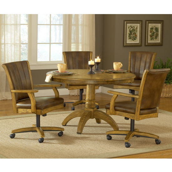 grand bay medium oak round dining set with caster chairs ebay
