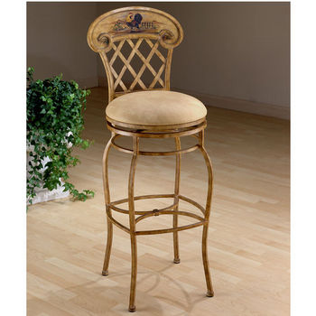 Hillsdale Swivel Rooster Counter or Bar Height Stool
