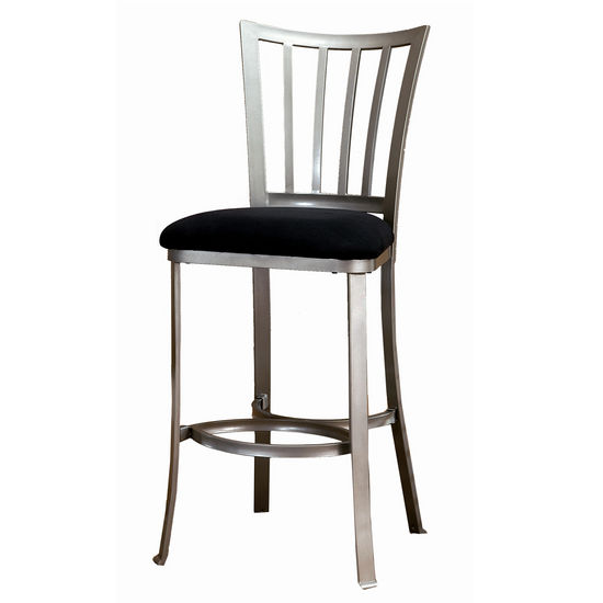 "Hillsdale Delray Non-Swivel Counter or Bar Stool, 26"" or 30"" Seat Height"