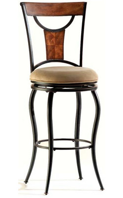 Hillsdale - Pacifico Swivel Bar Stool, 22 W x 22 D x 46 3/4 H, Black
