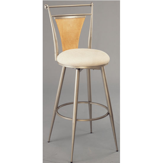 Hillsdale - London Swivel Counter or Bar Height Stool, Champagne