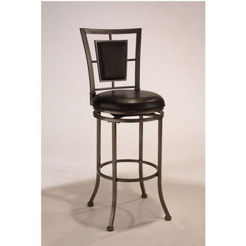 Hillsdale Furniture Auckland Swivel Counter or Bar Height Stool