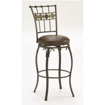 Hillsdale Furniture Lakeview Swivel Counter or Bar Height Stool, Slate Accent